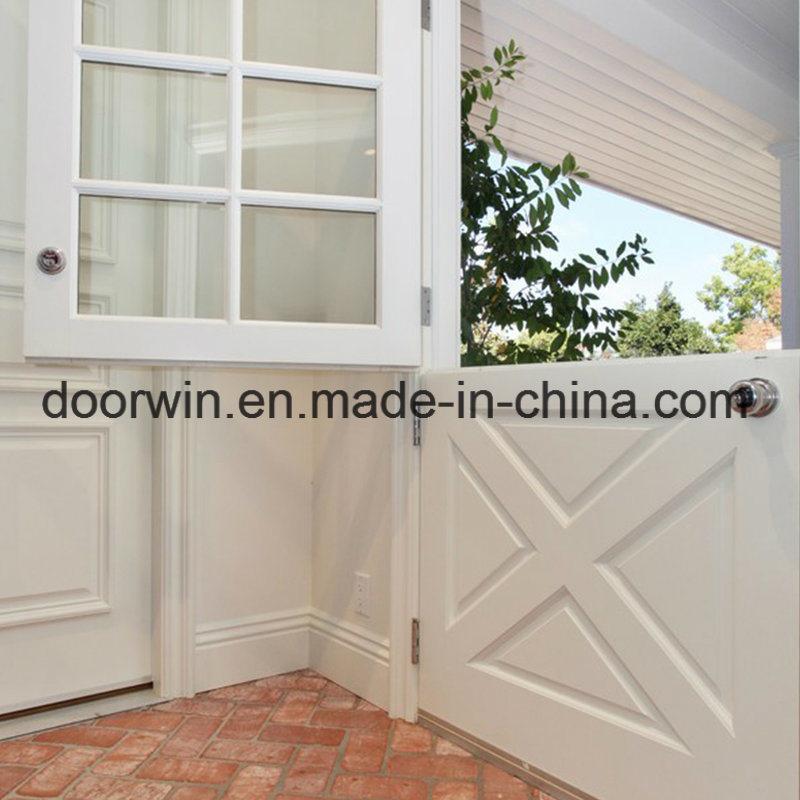Superb North Standard Wood Doors Entry Door Dutch Door White Color Pine Wood Frame  With Glass