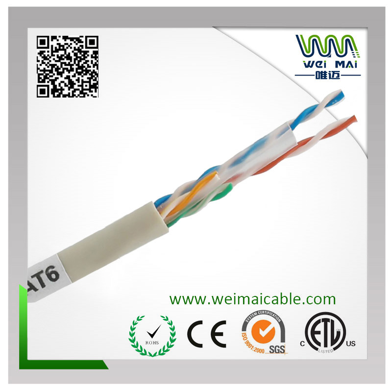 4pair 23AWG Bc UTP CAT6 LAN Cable
