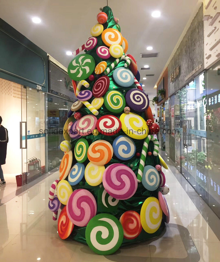 festival decoration candy christmas shopping mall scene setup decoration - Christmas Candy Decorations