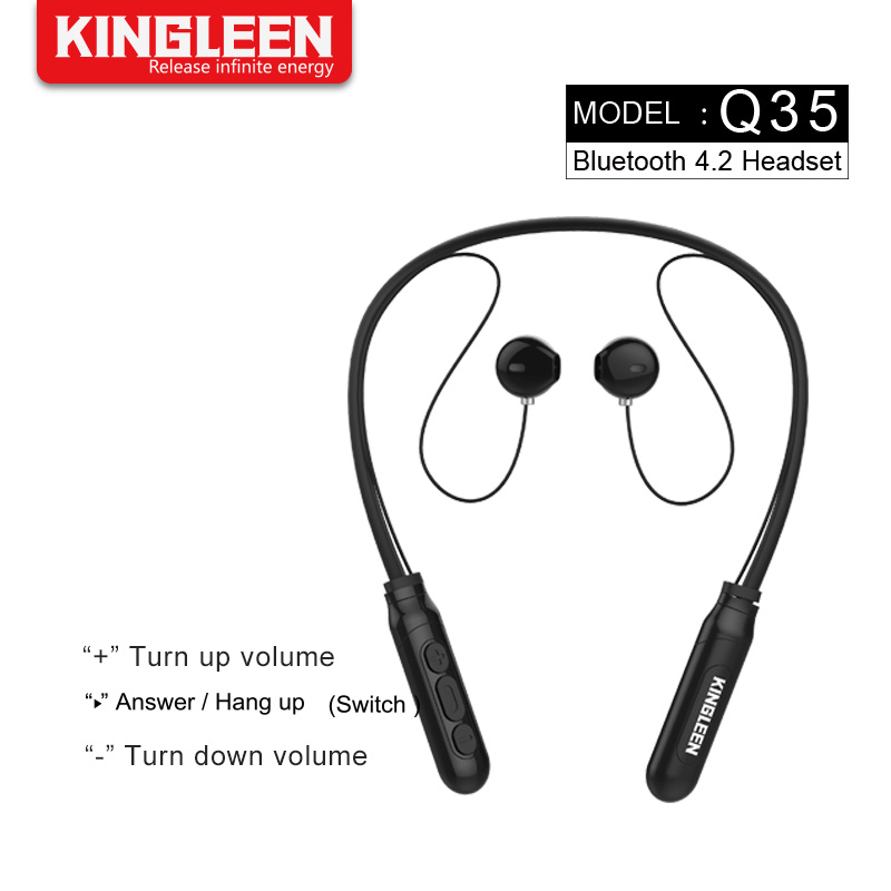 2e2a135b04d China Mobile Phone Bluetooth Headphone Wireless Neckband Headset Stereo Noise  Cancelling Earbuds with Mic - China Bluetooth Headset, Bluetooth Stereo ...