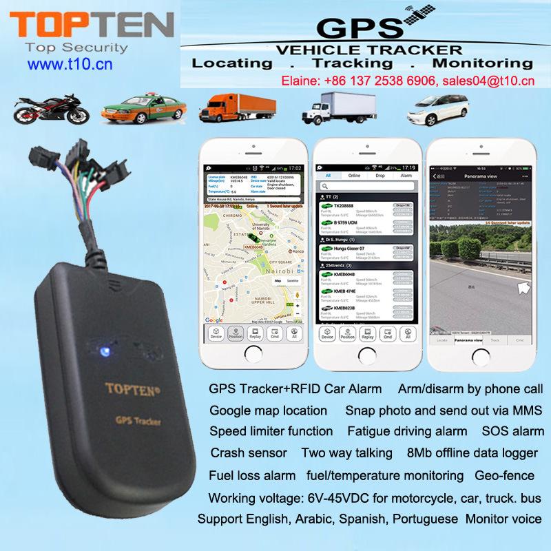 [Hot Item] RFID Keyless Entry GPS Car Alarm Support Fuel Leaking Alert,  Over Speed Alert Gt08-Ez