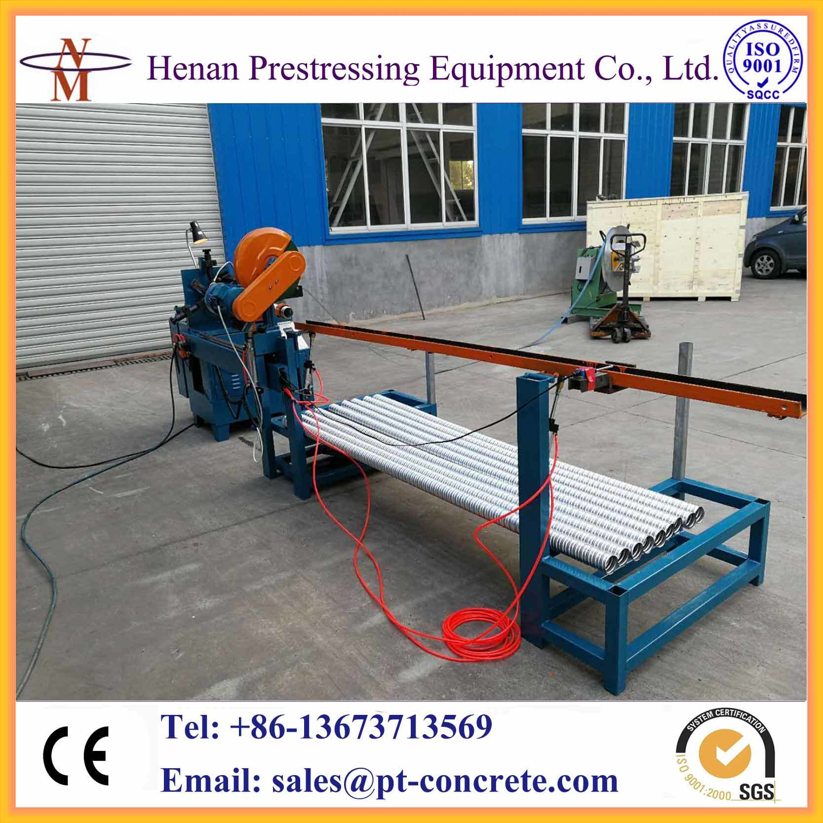 China Post Tension Galvanized Steel Duct Production Line - China ...