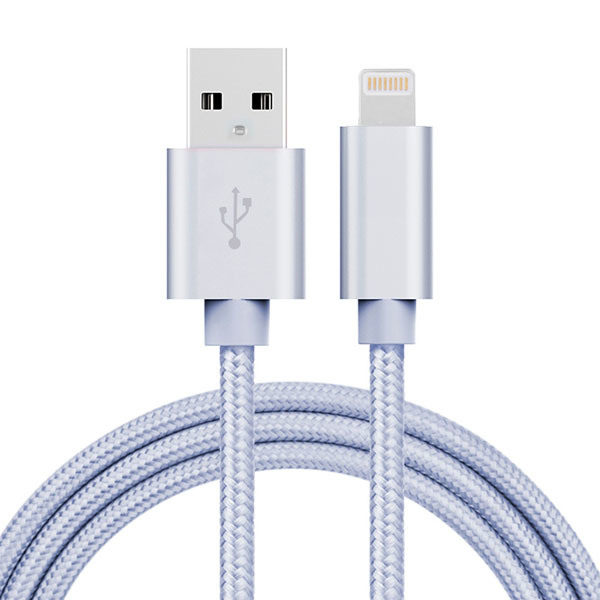5V 2A Nylon Insulated 8 Pin Lightning USB Cable for Samsung Phone, iPhone, iPad
