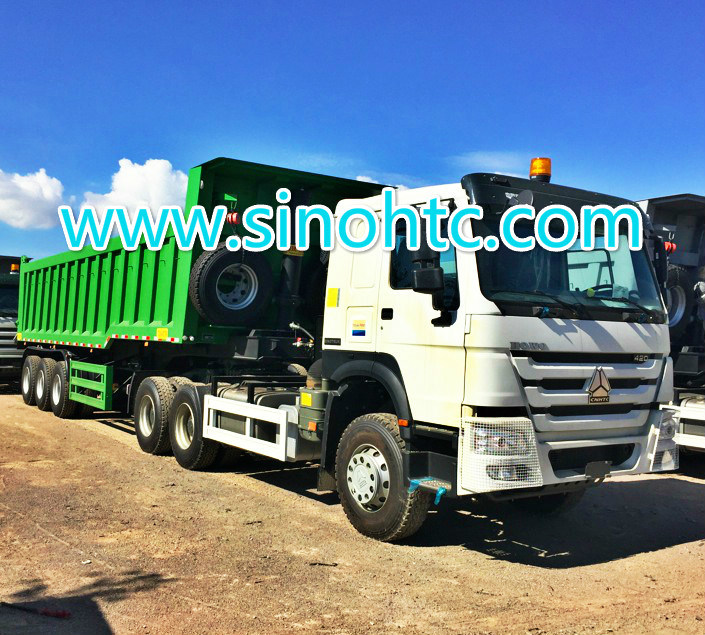 3 axle dump trailer/ Tipping trailer/ dump tipper trailer/ dumper tipper trailer pictures & photos