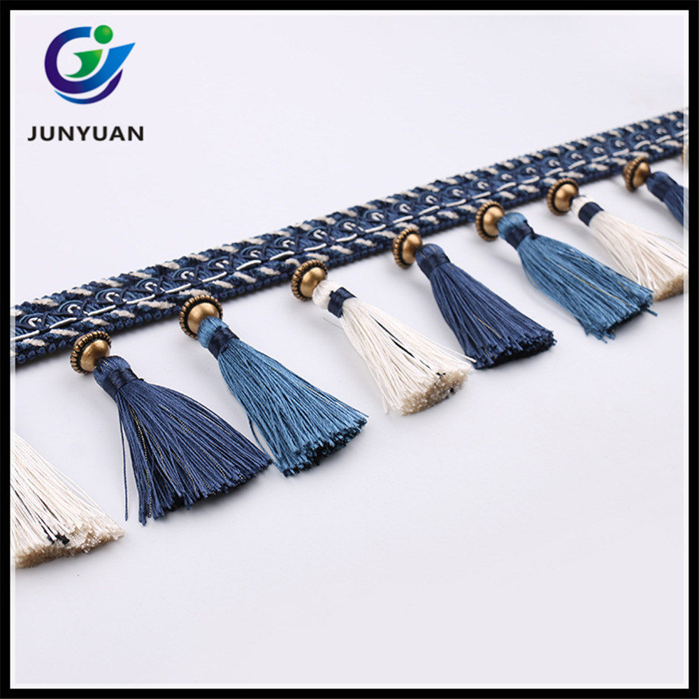 China Fabric Tassel Fringe Trims for Curtain Decorative