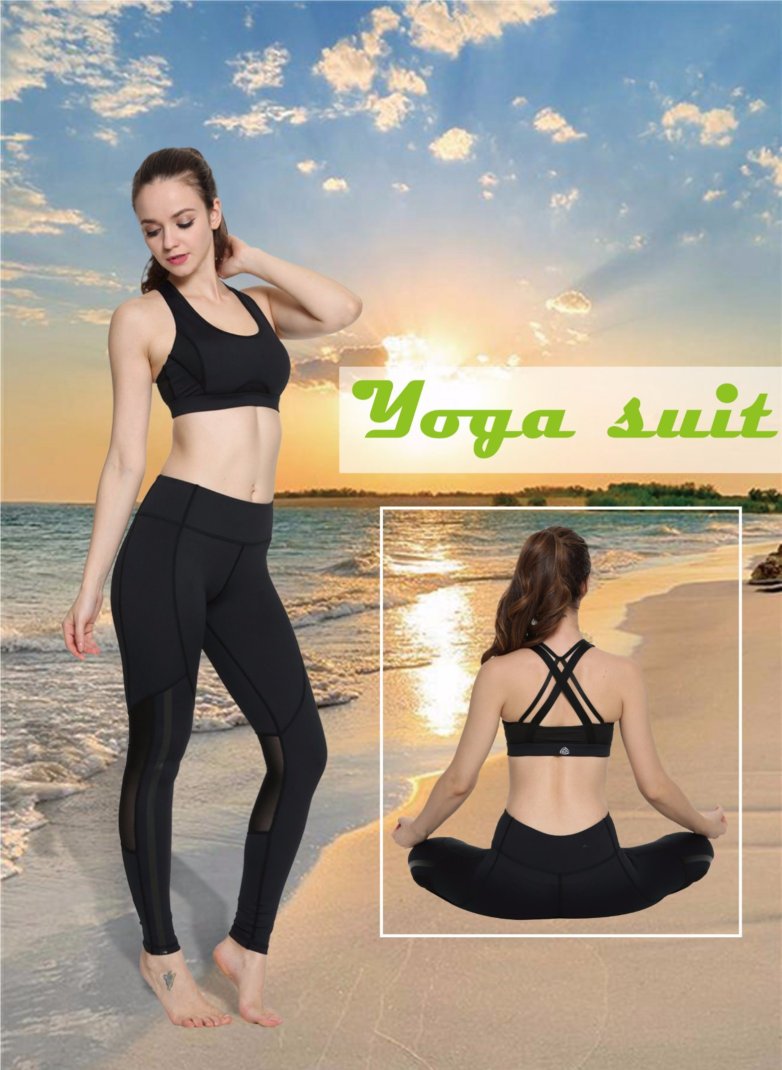 e24dc6f2e9dfd China Wholesale Women Fitness Vest Yoga Sports Bra for Women Sexy Black  Pants Set - China Compression Tights