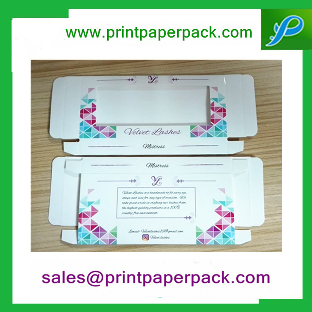 Customized Foldable Eyelash Paper Box Packing Box Jewelry Box Cosmetic Box with Window