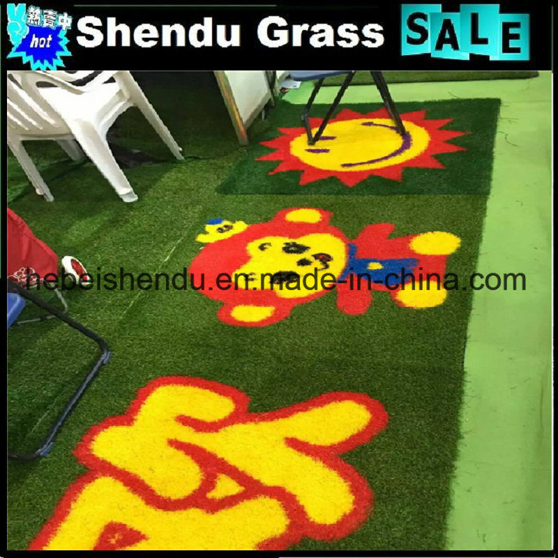 Carton Artificial Grass Mat with Size 1mx1m