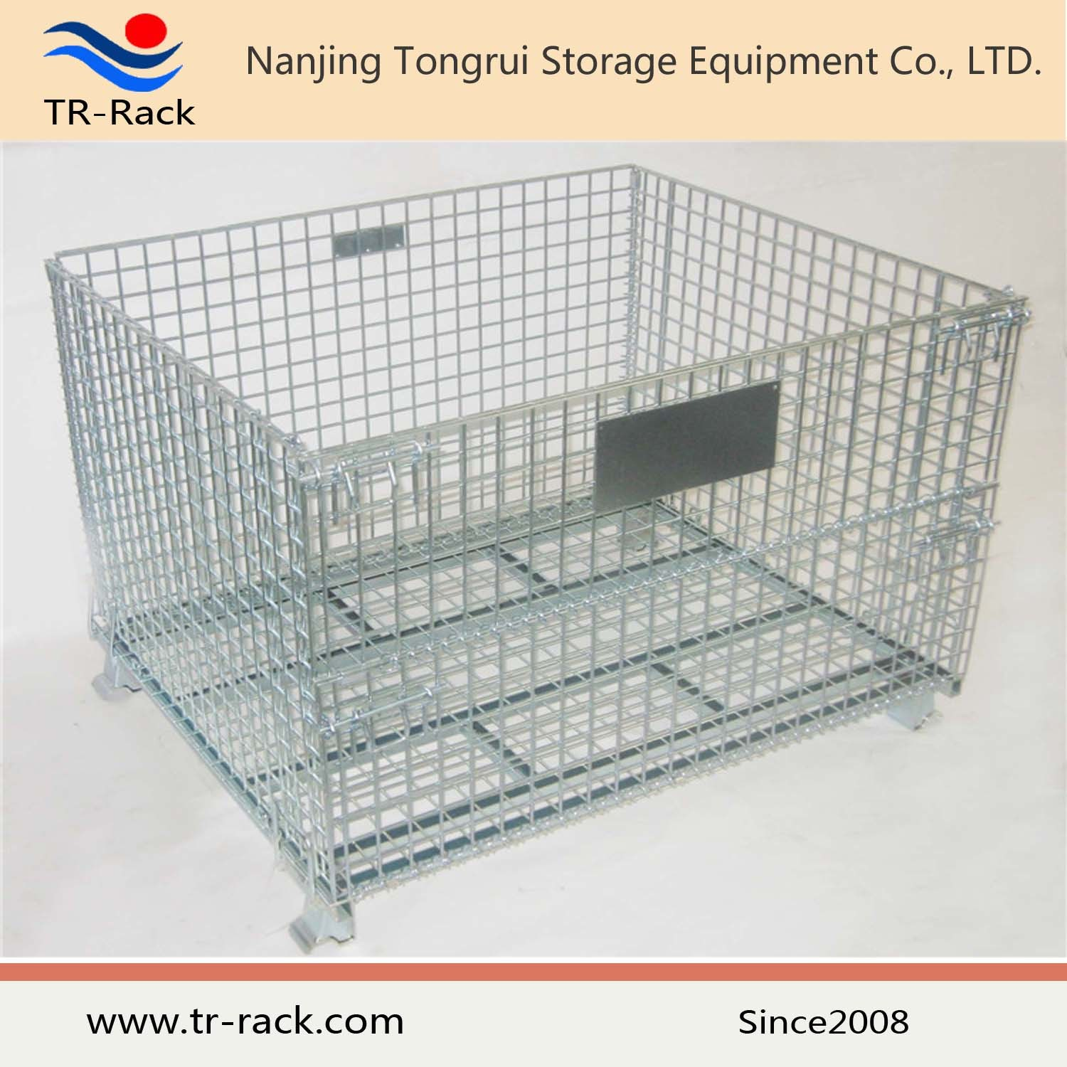 China Stackable Galvanized Steel Warehouse Wire Mesh Storage Cage   China Steel  Cage, Galvanized Cage