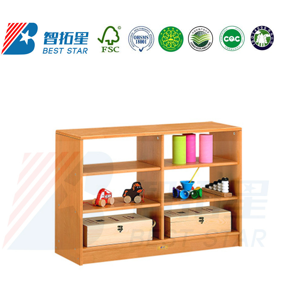 Preschool And Kindergarten Children Bookshelf Bookcase Playroom Furniture Kids Toy Storage Shelf Stand Living Room Wardrobe Wooden Display Rack