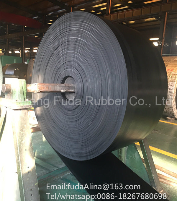 Black Fabric Heavy Duty Rubber Conveyor Belt (SGS, ISO9001: 2008)