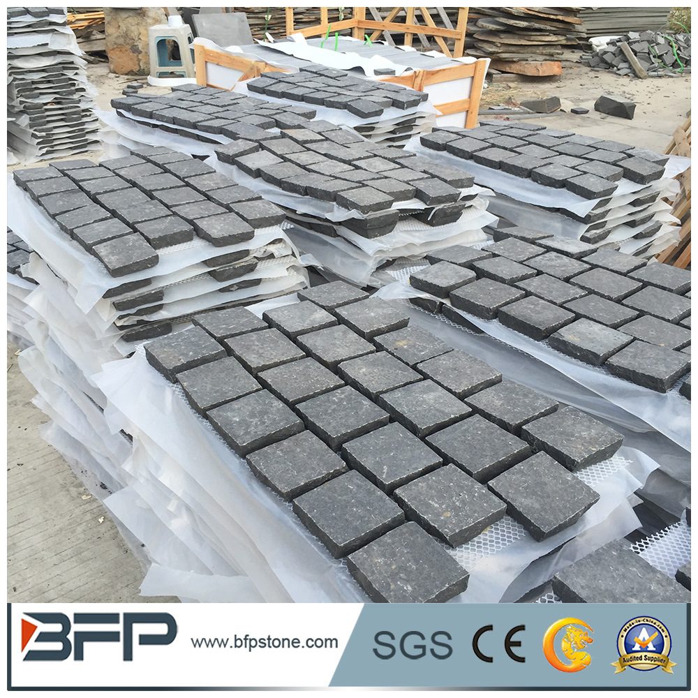 China Basalt Cobble Stone Driveway Pavers Lowes Photos & Pictures