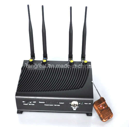 Cellular Phone and GPS Jammer with Remote Control (TG-4CA)