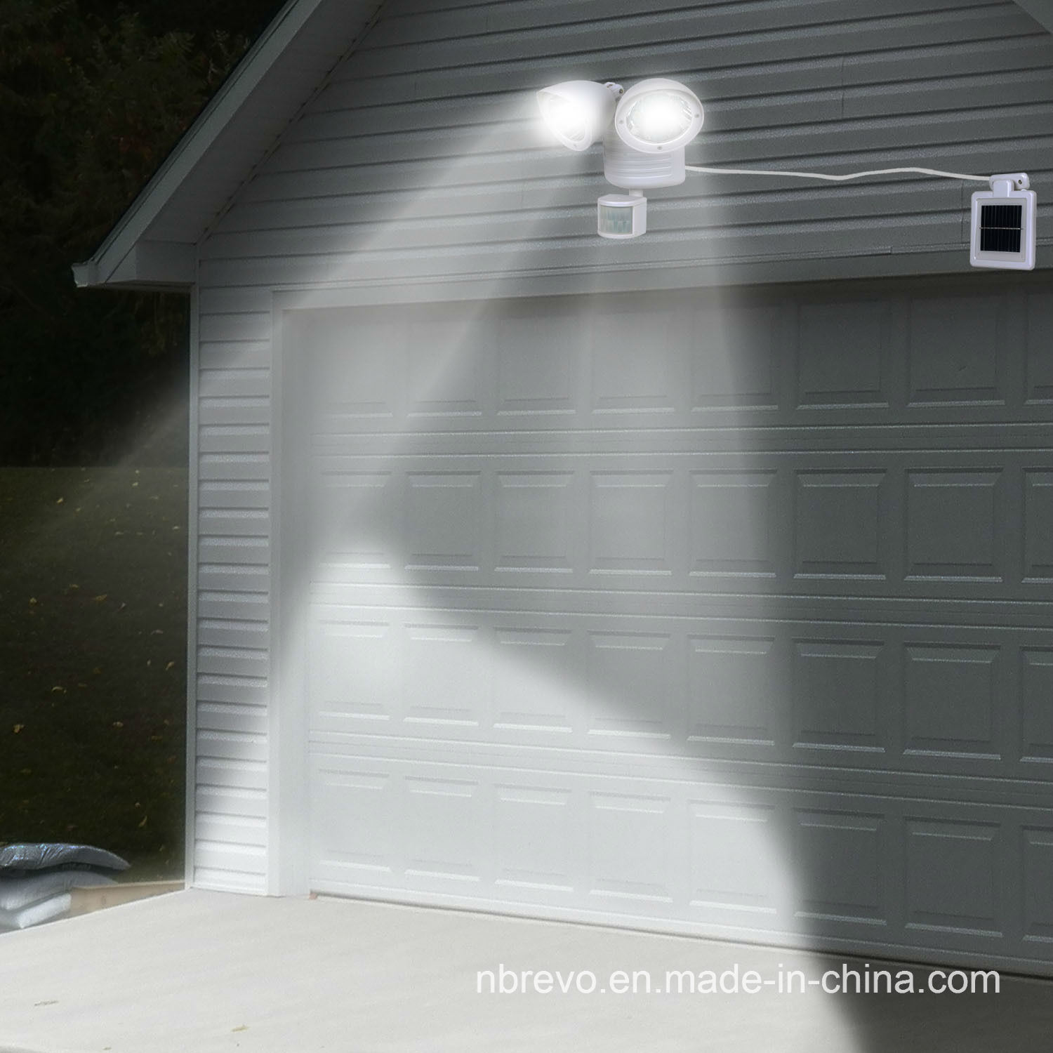 Solar Twin Motion Senor Security Light (RS2009W) pictures & photos