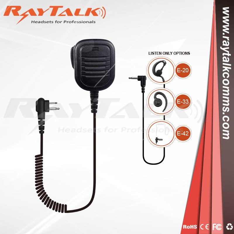 Listen Only Earpiece 3.5mm Remote Speaker Microphone Icom Kenwood Motorola Hyt