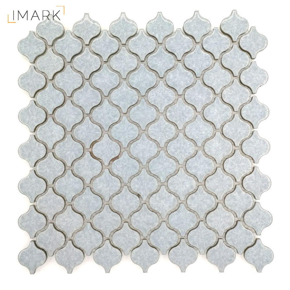 China mini arabesque lantern porcelain mosaic tile for kitchen backsplash china blue mosaic ceramic floor tile