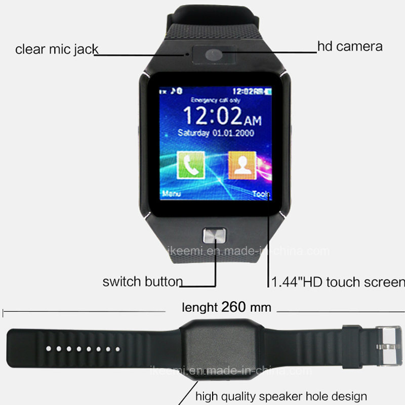 Dz09s Smart Watch with SIM Card Clock Sync Notifier Bluetooth Connectivity Apple Andriod Smartphones pictures & photos