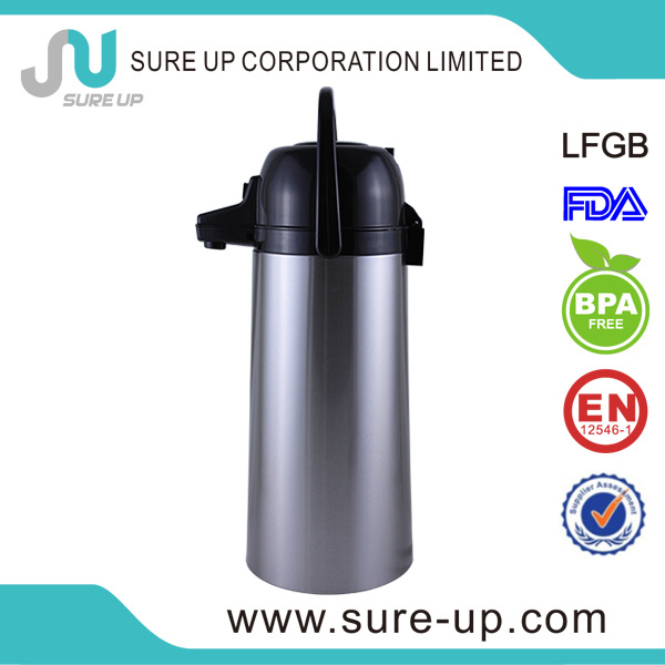 New Style Metal Outer Glass Inner Thermos Vacuum Flask