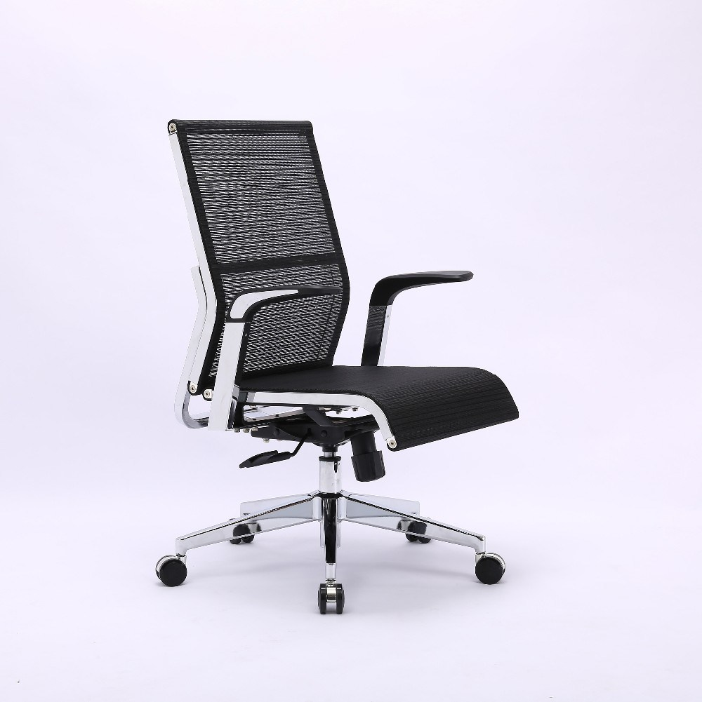 [Hot Item] Chrome Backrest Ergonomic Full Mesh Office Steel Chair of Office  Furniture
