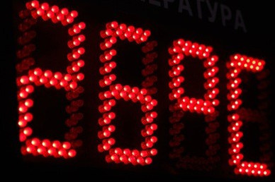 Outdoor LED Digital Clock (Red color-4 Digits) pictures & photos