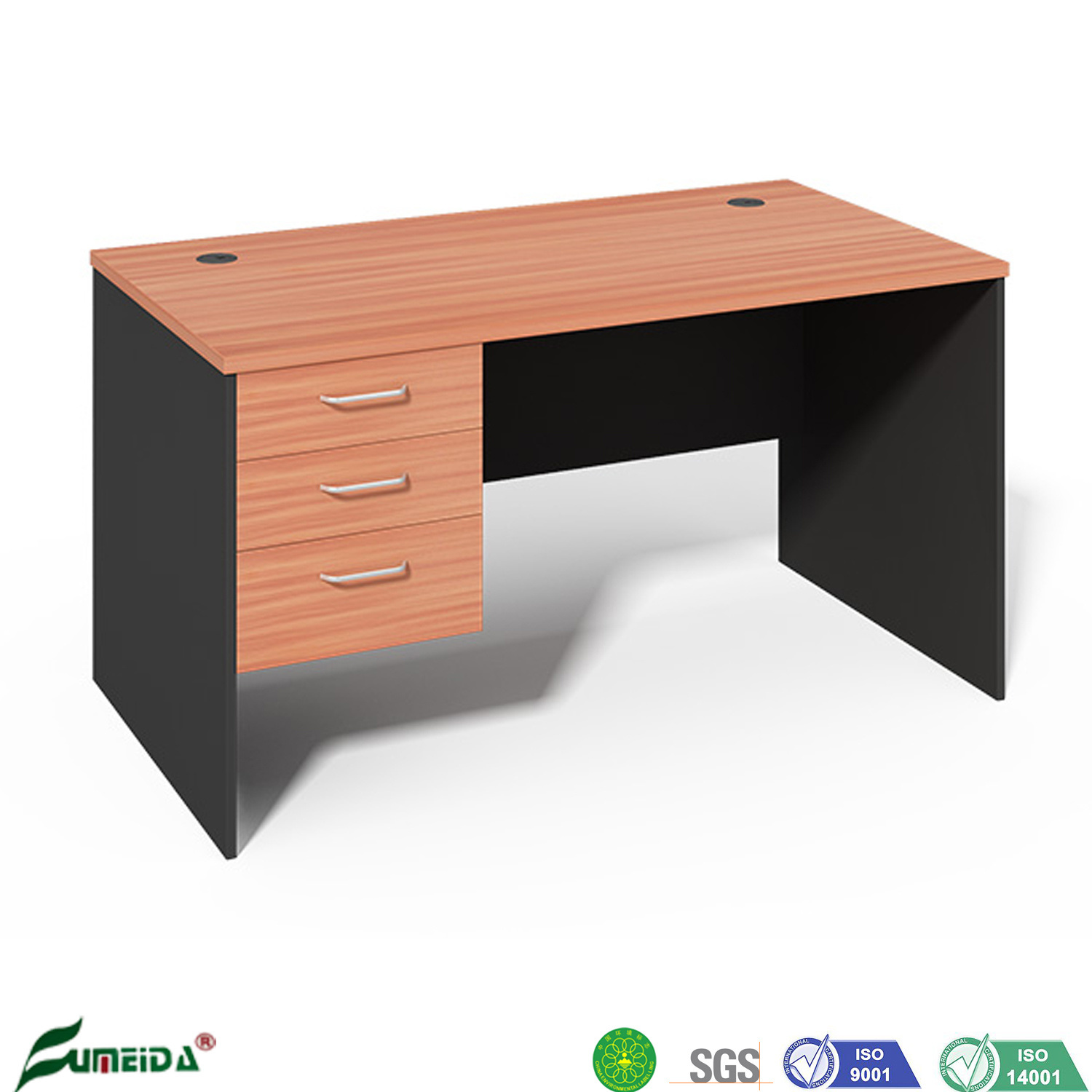 China Wholesale High Quality Mfc Wooden Small Sized Office Desk Standard Computer Desk China Office Desk Standard Desk
