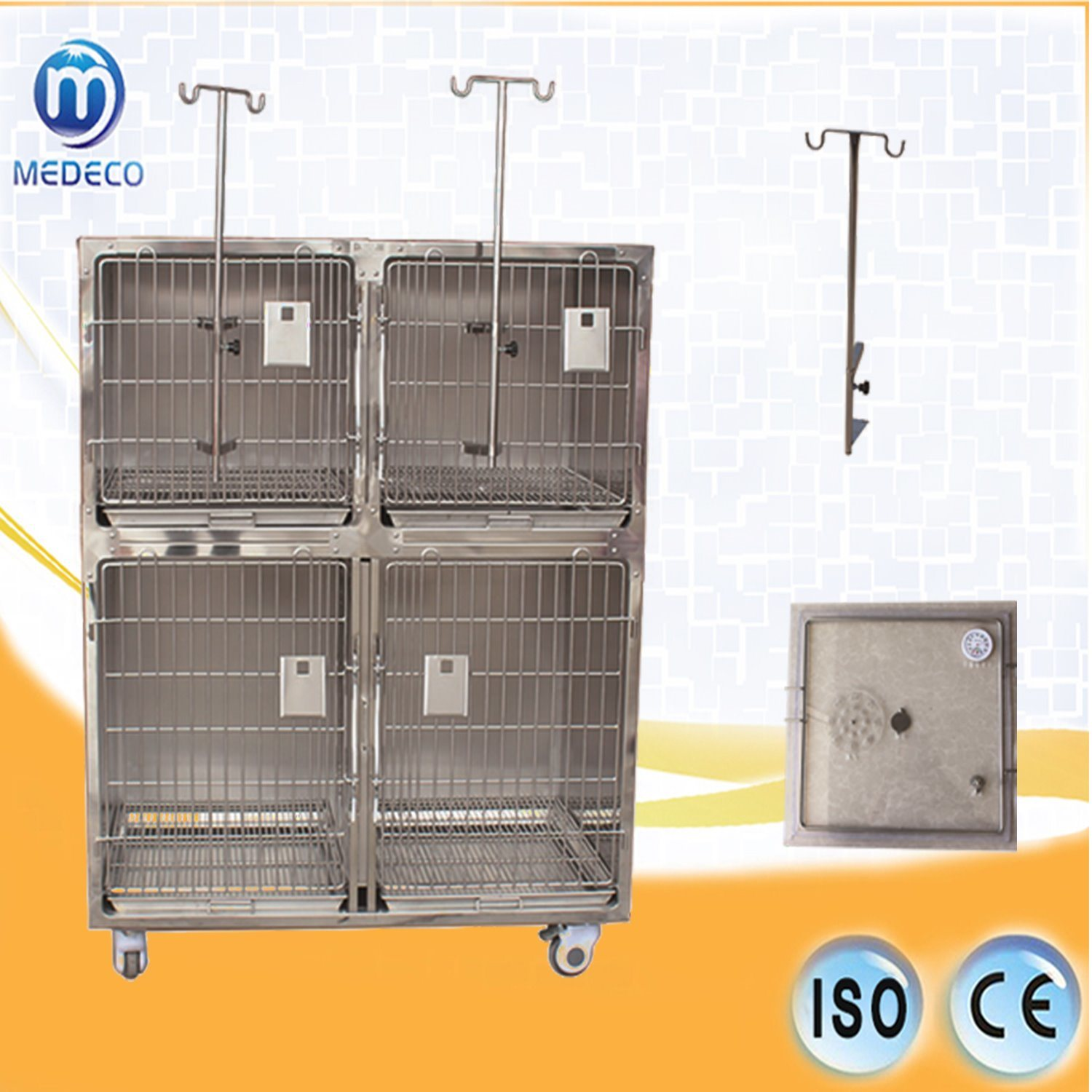 Economic Veterinary Equipment Combined Stainless Steel Cat & Dog Cage Mejy-01 pictures & photos