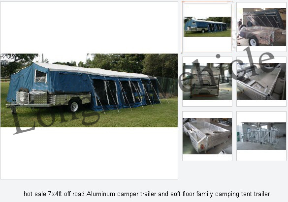 2012 Popular 7*4ft off Road Aluminum Camper Trailer and Soft Floor Family Camping Tent Trailer (CPT-09)