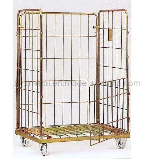 Jumbo Size Roll Container Storage Logistics Hand Cart