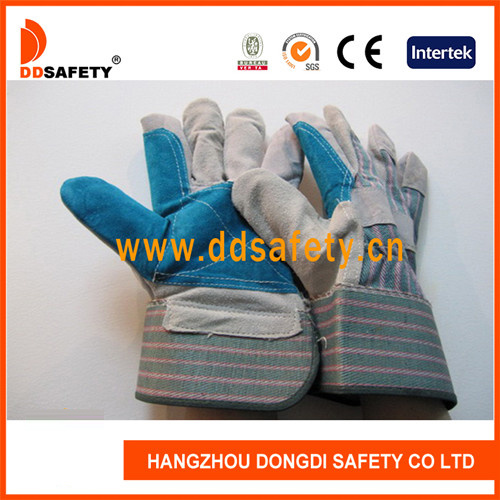 Ddsafety 2017 Reinforced Blue Leather Glove pictures & photos