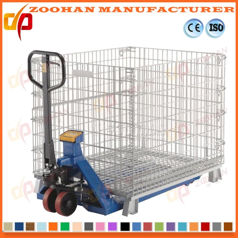 China Galvanized Stackable Steel Tyre Storage Rack Wire Mesh Cage ...