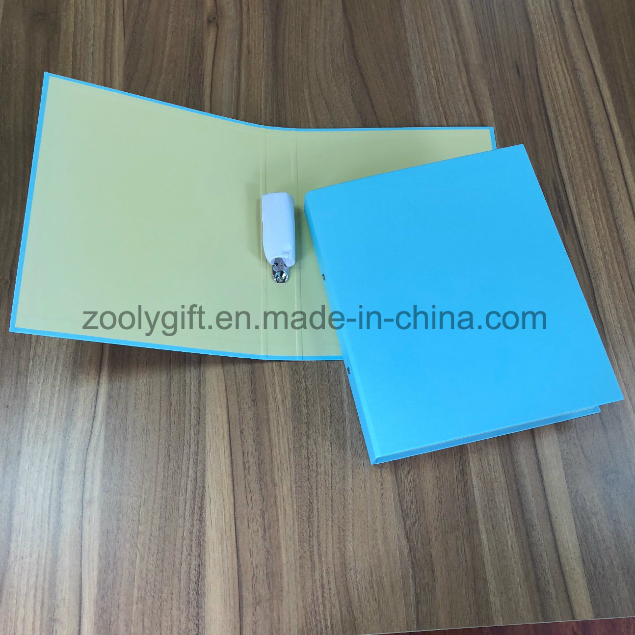 china solid colour a4 cardboard 2 round ring binder 1 inch