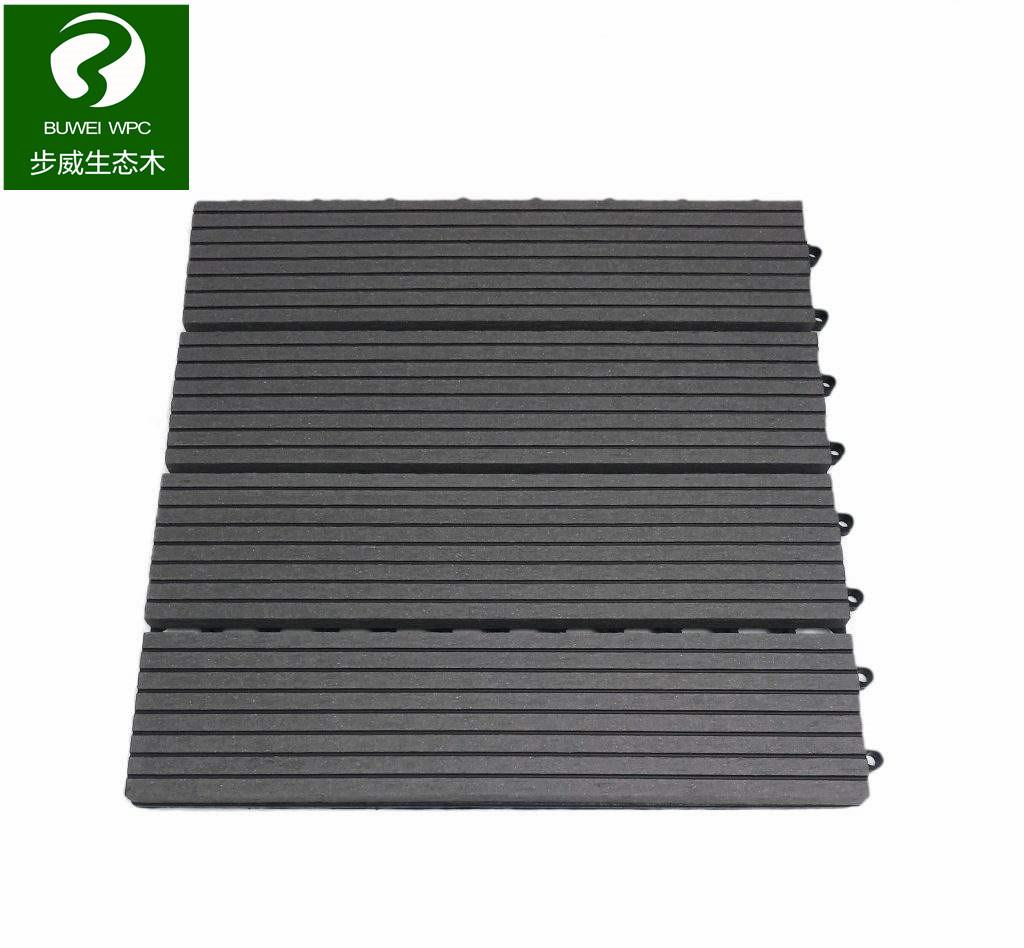 China Outdoor Easy Installation Wood Plastic Composite Floor Tile