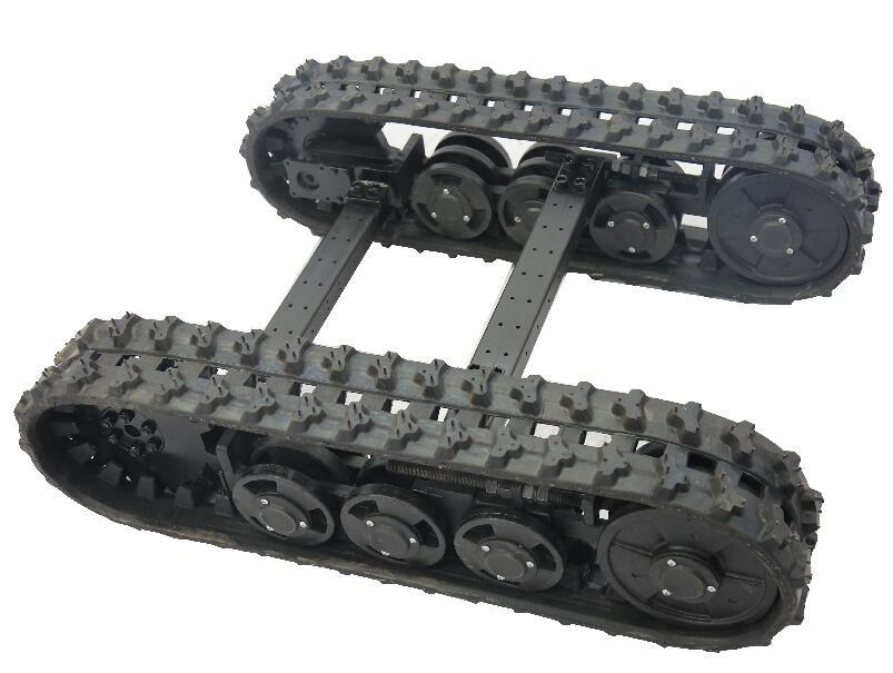 China Rubber Track Undercarriage For Mini Lawn Mower Snow