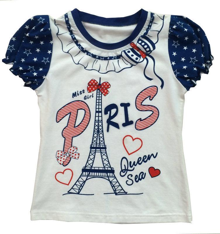 china fashion girl kids clothes paris tshirt with