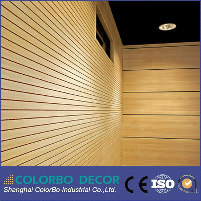 China Modern House Soundproofing Decorative Perforated Wooden ...