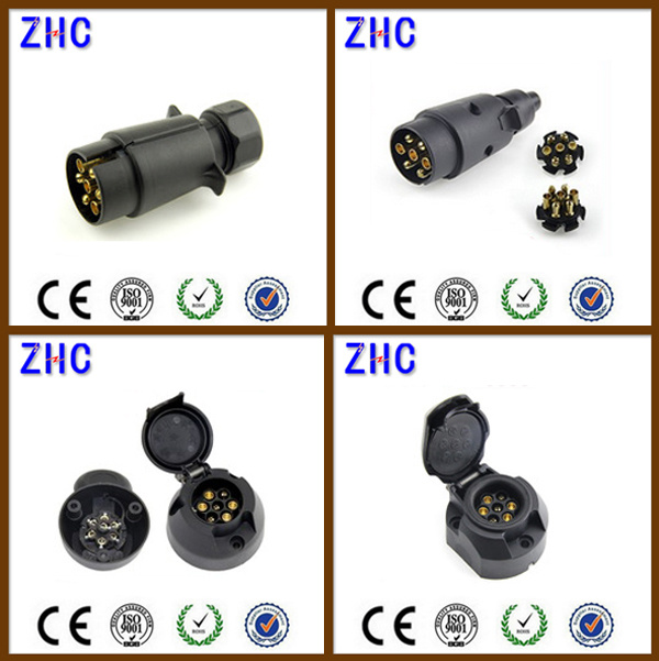 China Factory Price 7 Pin Plastic Truck Trailer Plug & Socket ...