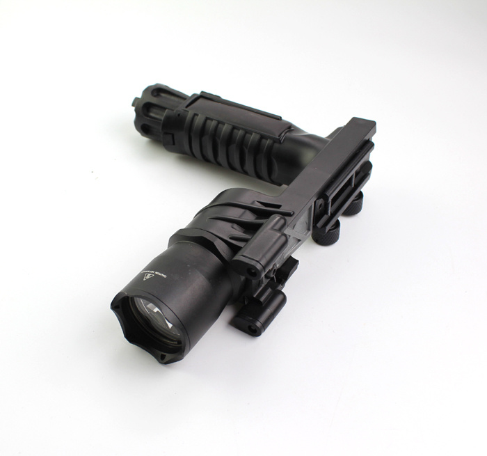 Erains Tac Optics Tactical 550 Lumens Screw Detach Dura Aluminum Handgrip & LED Light LED Flashlight Torch with Reading Lamp Attached pictures & photos