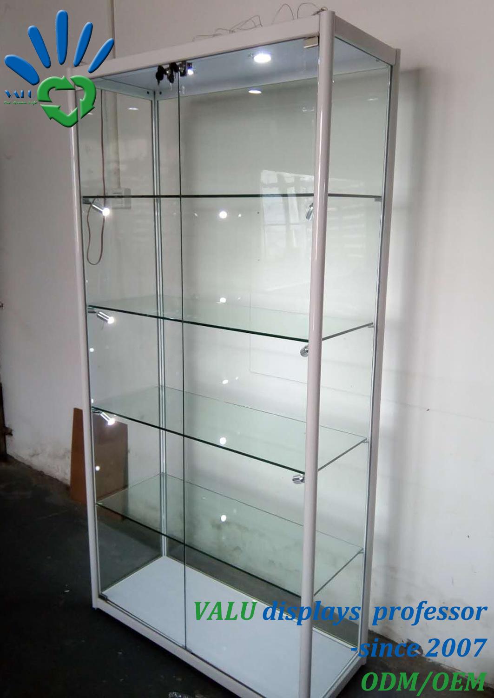 Tall Modern White Lockable Gl Doors
