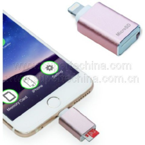 China Mfi Micro SD Card Reader for iPhone, iPad, iPod (S1A
