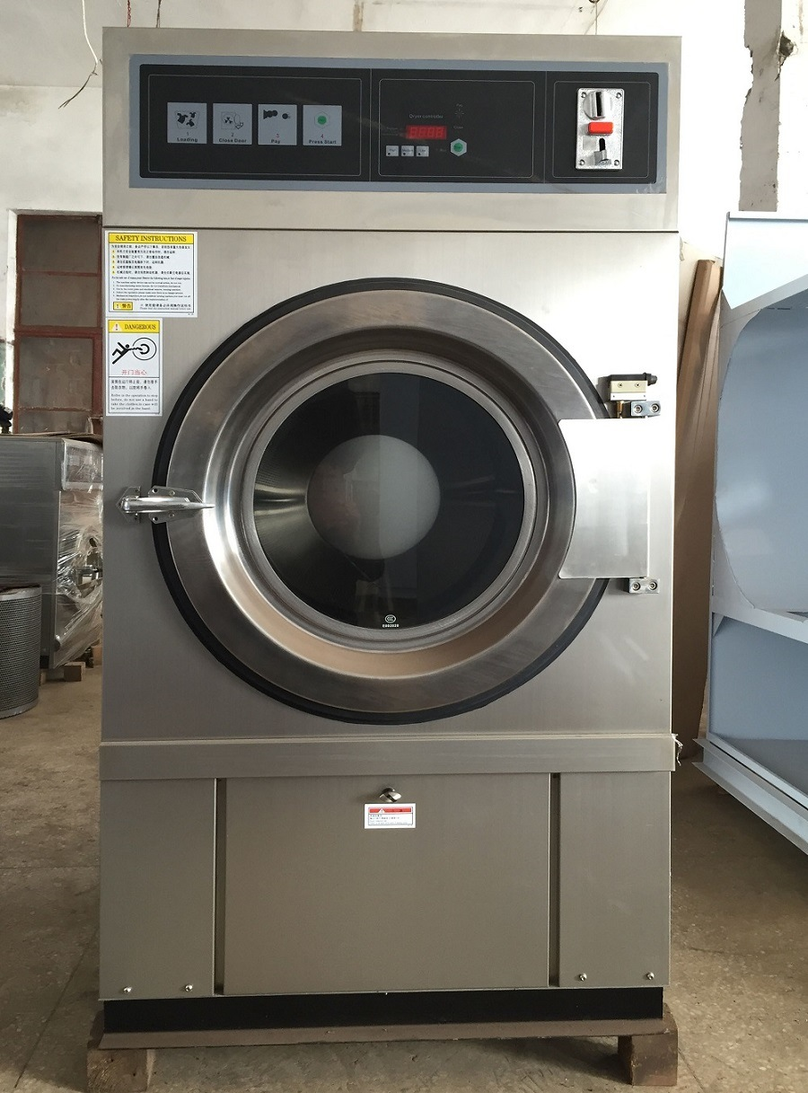 Coin Washing Machine >> China 8kg 10kg 12kg Gas Heating Commercial Drying Machine Coin