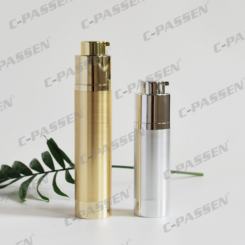 30g Silver Acrylic Screw Airless Bottle for Cosmetic Packaging (PPC-NEW-017)