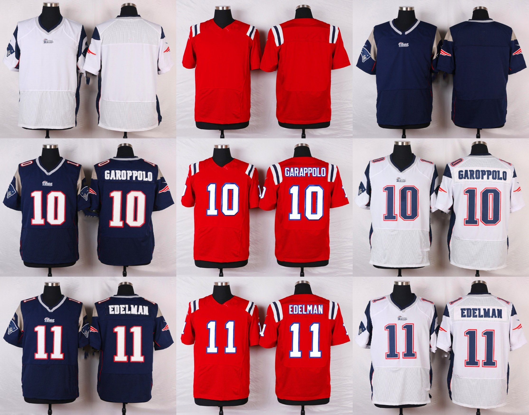 cheap for discount c0a0b ef462 [Hot Item] Throwback Game Jimmy Garoppolo Julian Edelman Customized  Football Jerseys