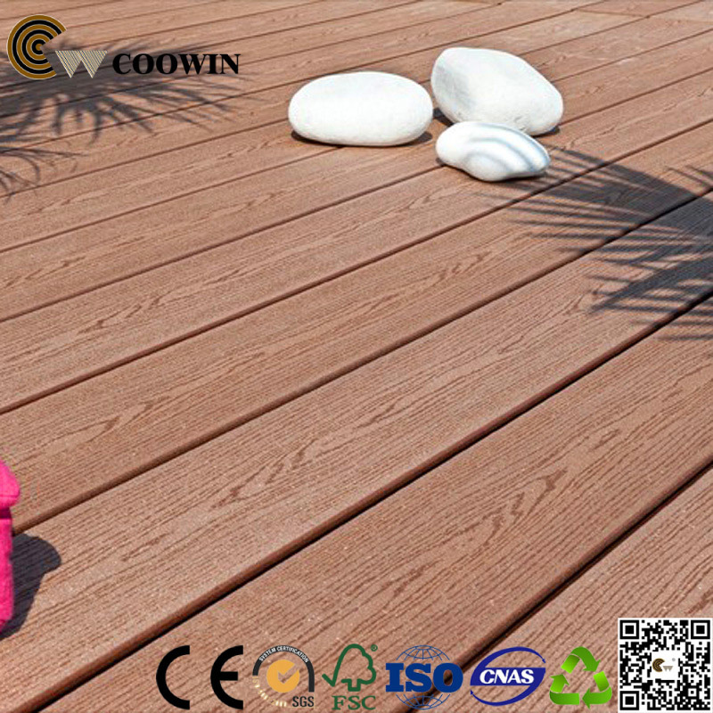 China Wood Grain Surface Outdoor Flooring Wpc Decking