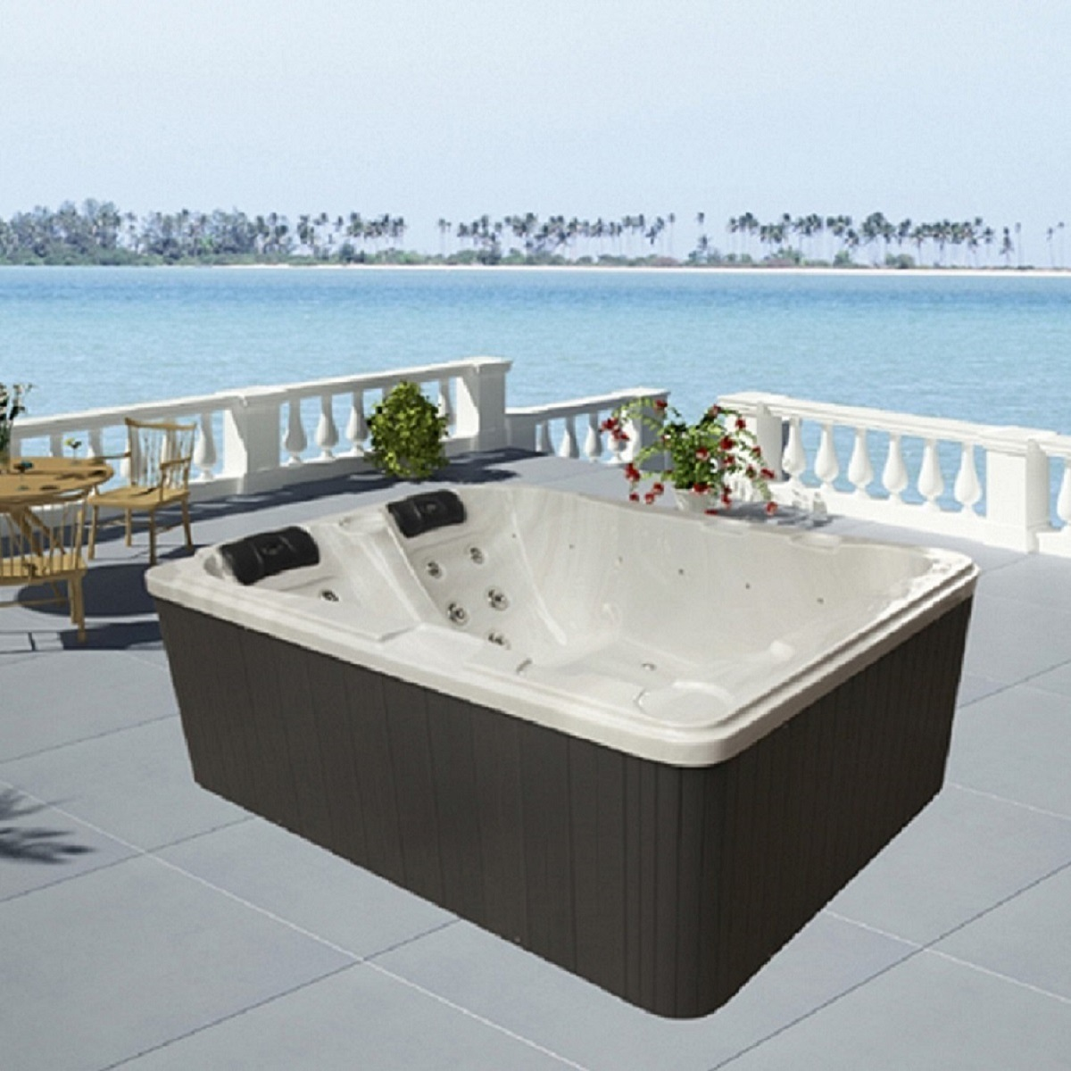 China Monalisa Hot Tub with Outdoor Whirlpool SPA Function M-3371 ...