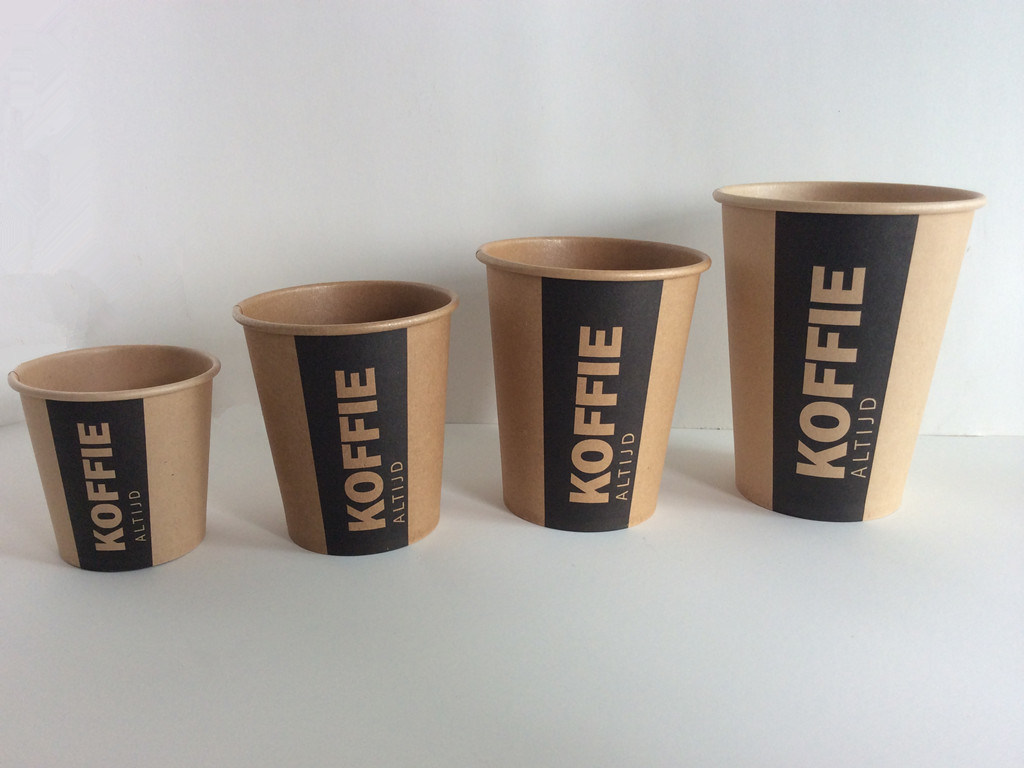4oz 6oz 8oz 12oz 16oz Brown Craft Paper Cup