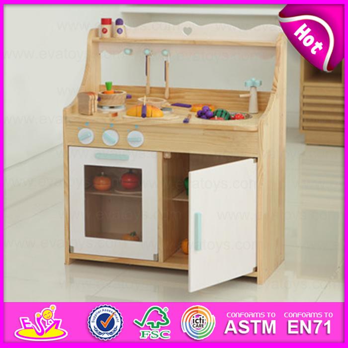 [Hot Item] New Style Wooden Kitchen Furniture Toy Set, Big Wood Play  Kitchen Set Toy Children Cooking Toy W10c160