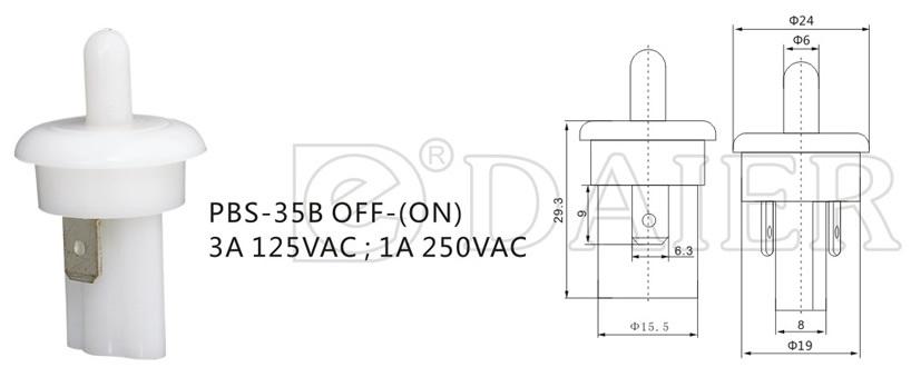 Sliding Door Light Switch, Refrigerator Door Light Switch (PBS 35B)