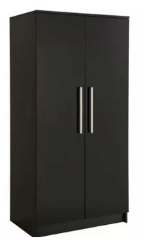 China Wooden Furniture Simple Black 2 3 Door Bedroom Wardrobe Photos Pictures Made In China Com