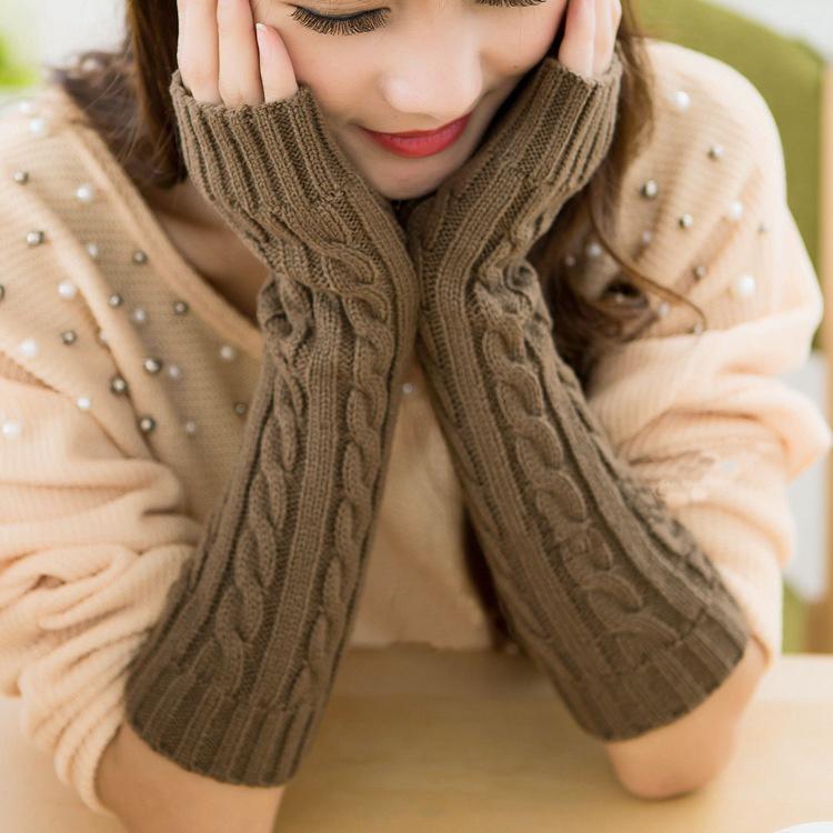 China Fashion Colorful Long Arm Warmers, Knitting Pattern Wool Hand ...