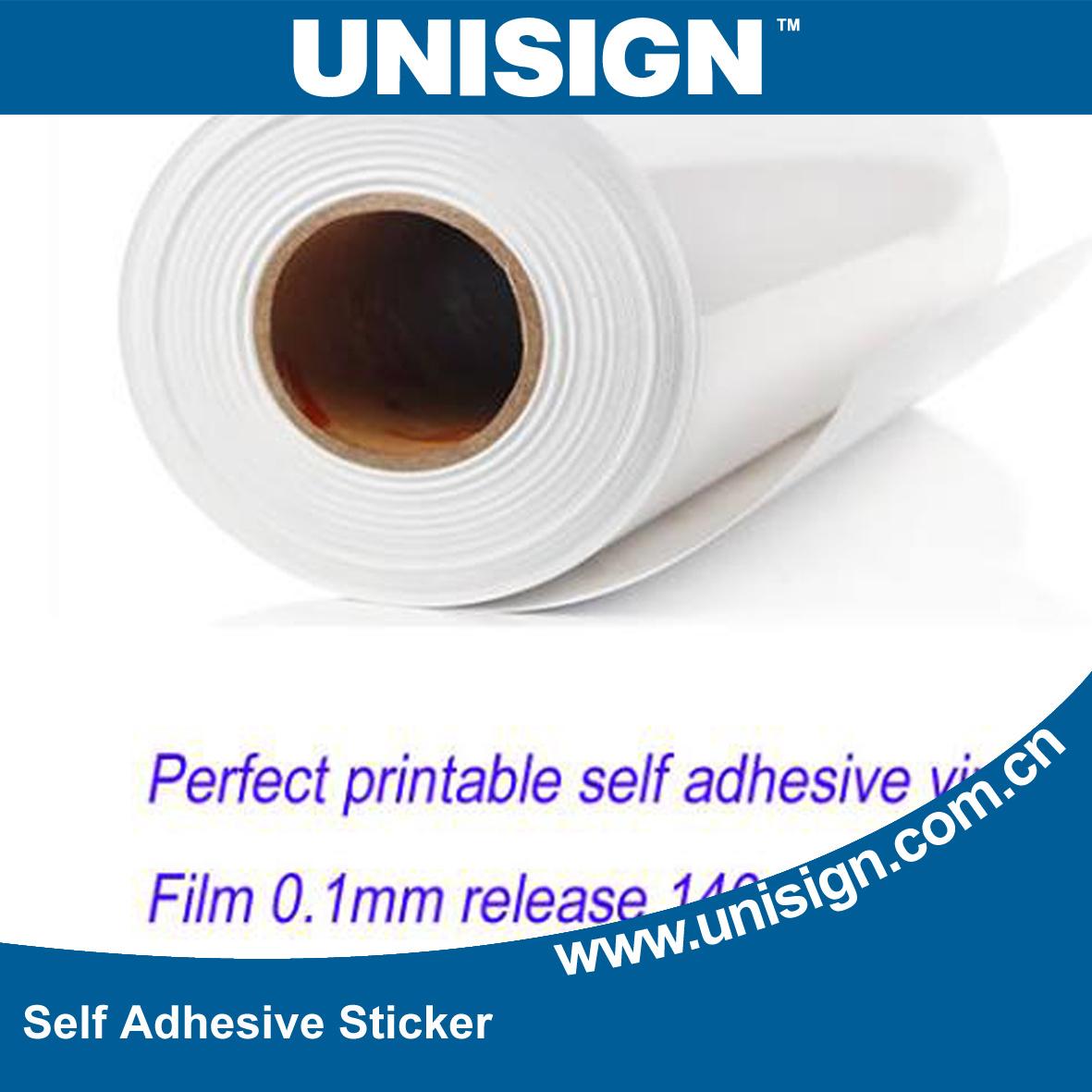 China printing pvc adhesive vinyl sticker film china vinilo micro perforated vinyl for digita grey back self adhesive vinyl